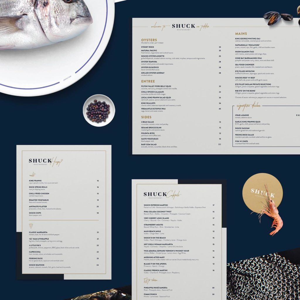 Madam-Republic_Brand-Rejuvenation_Shuck-Restaurant_Menu-Design